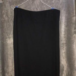 4/$20 Pure Energy Black Maxi Skirt 1X
